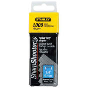 """Stanley Heavy-Duty Narrow Crown Staples 1/4"""", 1,000 Pack, TRA704T"""