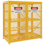 Storage Cabinet Double Door Horizontal, 16 Cylinder Capacity