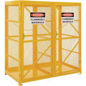Storage Cabinet Double Door Vertical, 18 Cylinder Capacity