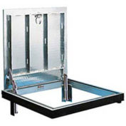 """Bilco Drainage Channel Frame, Double Leaf, 316 Stainless Steel Hardware, 30""""Lx48""""W"""