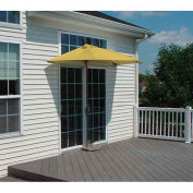 OFF-THE-WALL BRELLA® 7.5 Ft. Half Umbrella, Yellow, Sunbrella