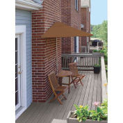 TERRACE MATES® BISTRO Economy 5 pc Set W/ 7.5 Ft. Umbrella, Teak, Sunbrella