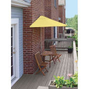 TERRACE MATES® BISTRO Economy 5 pc Set W/ 7.5 Ft. Umbrella, Yellow, Sunbrella