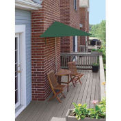 TERRACE MATES® BISTRO Standard 5 Pc. Set W/ 9 Ft. Umbrella, Green Sunbrella
