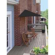 TERRACE MATES® BISTRO Economy 5 pc Set W/ 7.5 Ft. Umbrella, Black, Sunbrella