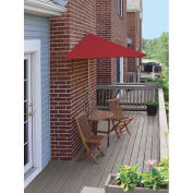 TERRACE MATES® BISTRO Economy 5 pc Set W/ 7.5 Ft. Umbrella, Red, Olefin