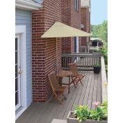 TERRACE MATES® BISTRO Economy 5 pc Set W/ 7.5 Ft. Umbrella, Antique Beige, Sunbrella