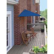 TERRACE MATES® BISTRO Economy 5 pc Set W/ 7.5 Ft. Umbrella, Blue, Sunbrella