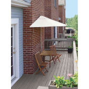 TERRACE MATES® VILLA Standard 5 Pc. Set W/ 9 Ft. Umbrella, Natural Sunbrella