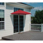 OFF-THE-WALL BRELLA® 9 Ft. Half Umbrella, Red, Sunbrella