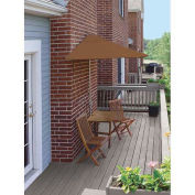 TERRACE MATES® VILLA Standard 5 Pc. Set W/ 9 Ft. Umbrella, Teak Sunbrella