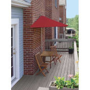 TERRACE MATES® VILLA Economy 5 Pc. Set W/ 7.5 Ft. Umbrella, Red Olefin