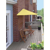 TERRACE MATES® CALEO Economy 5 Pc. Set W/ 7.5 Ft. Umbrella, Yellow Sunbrella