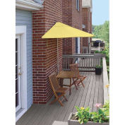 TERRACE MATES® VILLA Economy 5 Pc. Set W/ 7.5 Ft. Umbrella, Yellow Sunbrella