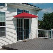 OFF-THE-WALL BRELLA® 7.5 Ft. Half Umbrella, Red, Olefin