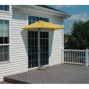 OFF-THE-WALL BRELLA® 7.5 Ft. Half Umbrella, Yellow, Olefin