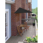 TERRACE MATES® VILLA Economy 5 Pc. Set W/ 7.5 Ft. Umbrella, Black Sunbrella
