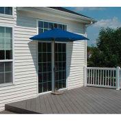 OFF-THE-WALL BRELLA® 7.5 Ft. Half Umbrella, Blue, Sunbrella