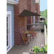 TERRACE MATES® VILLA Economy 5 Pc. Set W/ 7.5 Ft. Umbrella, Chocolate Sunbrella