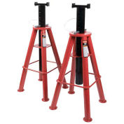 Sunex Tools 10 Ton Height Pin Type Jack Stands, Steel Base, Pair