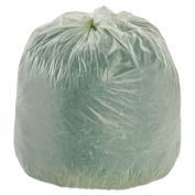 Stout Compostable Bags, 48 x 60, Green, 0.85 Mil, Flat Pack, 30/CS
