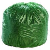 Stout Degradable Bags, 33 x 40, Green, 1.100 Mil, Flat Pack, 40/CS
