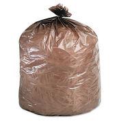 Stout Degradable Bags, 33 x 44, Brown, 1.100 Mil, Flat Pack, 40/CS