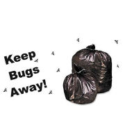 Stout Insect Repellant Bags, 33 x 45, Black, 2.00 Mil, Flat Pk, 80/CS