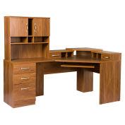 American Furniture Classics Reversible Corner Workcenter W/Hutch