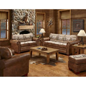 American Furniture Classics Alpine Lodge Sofa, Loveseat, Chair & Ottoman Set