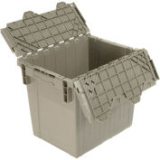 Distribution Container With Hinged Lid, 18x13x15, Gray