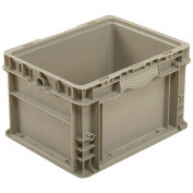 Straight Wall Container Solid - Stackable NRSO1215-09 Gray - 12 x 15 x 9
