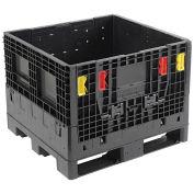 Monoflo BC3230-25 Plastic Folding Bulk Shipping Container, 32x30x25, 1800 lb. Capacity