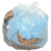 Medium Duty Natural Trash Can Liners - 55 Gallon, 14.4 Mic, 200/Case
