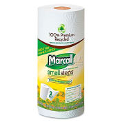 """Marcal Small Steps 100% Premium Recycled Roll Towels, 9"""" X 11"""", 15 Rolls/Case - MRC6709"""