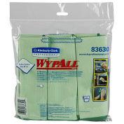 """Microfiber Cloths W/Microban, 15-3/4"""" X 15-3/4"""", Green, 6 Cloths/Pack"""