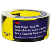 "3M 5702 Caution Stripe Tape, Black/Yellow, 2""W x 108'L, 1 Roll"