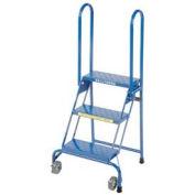 "Ballymore 3 Step 7"" Deep Top Step Lock-N-Stock Folding Aluminum Ladder"