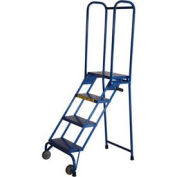 "Ballymore 4 Step 10"" Deep Step Lock-N-Stock Folding Aluminum Ladder"