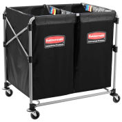 Rubbermaid® (2) 4 Bushel Cap. X-Cart Collapsible Multi-Stream Bulk Truck
