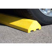 """Plastics-R-Unique 4672PBY Yellow Standard Parking Block with Cable Protection & Hardware - 72"""" Long"""