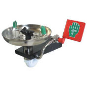 Hughes STD-85G Wall Mounted Emergency Eye/Facewash Fountain with Stainless Steel Bowl