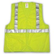 Tingley V70622 Job Sight Class 2 Vest, Fluorescent Lime, Polyester Mesh, 2XL/3XL