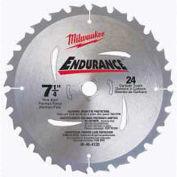 "Milwaukee 7-1/4"" 24 Carbide Teeth Circular Saw Blade, 48-40-4123"
