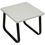 "Square Coffee Table, Gray Top, 20"" x 20"""