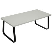 "Rectangle Coffee Table, Gray Top, 43"" x 20"""