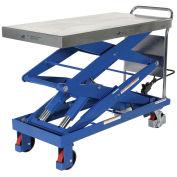 """Vestil CART-1500-D-TS 47 x 24 Hydraulic Elevating Cart, 1500 Lb. Cap."""""""