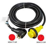 25-Feet 30-Amp Ergo Grip RV Extension Cord with NEMA TT-30P to NEMA L5-30R