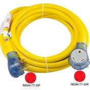 25-Feet 30-Amp Straight Blade RV Extension Cord with NEMA TT-30P/R