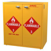 """Jumbo Stacking Flammable Cabinet, Manual Close, 24 Gallon, 30""""W x 18-1/2""""D x 32-1/2""""H"""